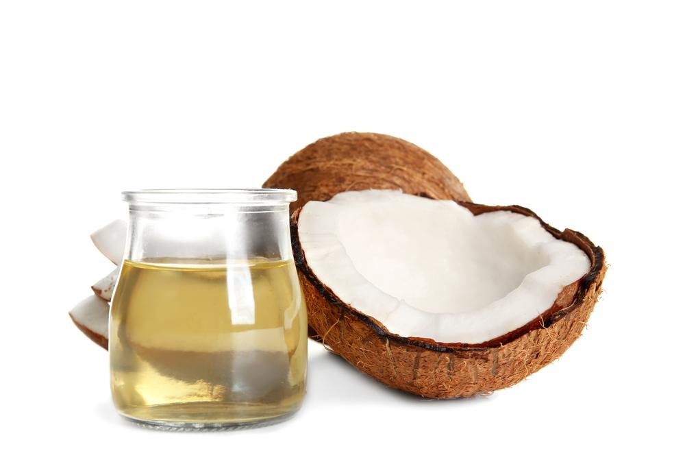 kokosový olej lupénka